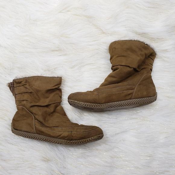 Suede Ankle Snow Boots   Poshmark